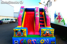 castillo hinchable con tobogan Cartoon