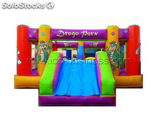 Castillo hinchable multiobstaculos