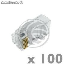 Cat6 UTP RJ45 connector male pack of 100 units (RH13-0002)