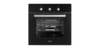 Cata se 7005 bk horno estatico cristal negro abatible full glass