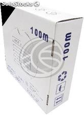 Category 6 FTP cable coil CCA 24AWG solid black 100m (LQ44)