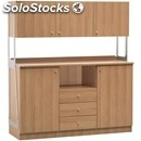 Catering cabinet - mod. ml3214sspn - walnut veneered structure - n. 2 doors - n.