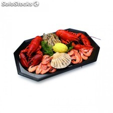 Catering trays 45x30x2,5 cm negro pet