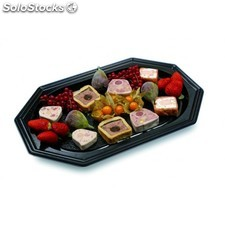 Catering trays 55x36x3 cm negro pet