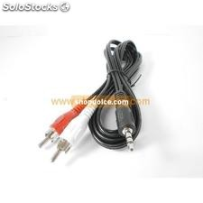 cavo audio jack stereo 3,5 mm a 2 x rca 1.5 mt nero 50018