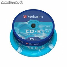 CD-r grabable 25 unidades verbatim