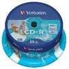 CD-r verbatim imprimible 80MIN 700MB 52X tarrina 25 uds 10-020-031