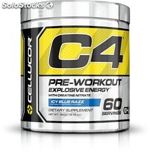 Cellucor C4 Premium Pre Workout Powder (195g) - Icy Blue Razz - 60 Servings