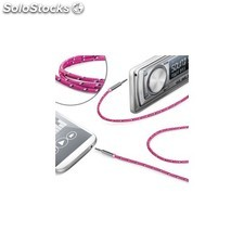 Celly - LINEIN35TEXPK 3.5mm 3.5mm Rosa cable de audio