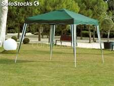 Cenador plegable metalico profer green 3X3 m