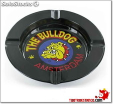 Cenicero metal bull dog