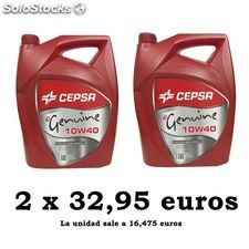 Cepsa genuine 10W40 pack 2x5lt 2 x 5lt