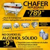 Chafer Bufetera Replegable Acero Inoxidable