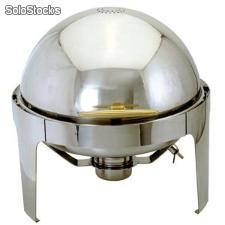 Chafer Redondo Acero Inoxidable Tapa Roll top