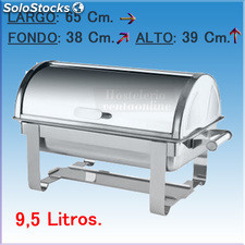 Chafing dish con tapa tipo roll pol