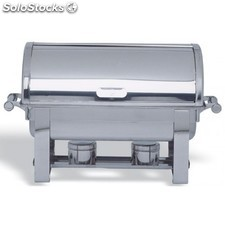 Chafing dish con tapa tipo roll top