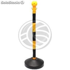 Chain barrier posts for queue management 285x40x840mm yellow black 2 units