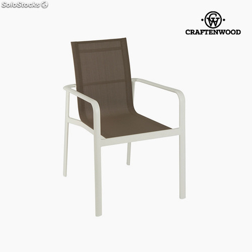 chaise aluminium marron by craftenwood - Chaise Aluminium