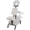 Chaise de Massage Pliante et Portable Blanc