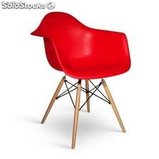 Chaise Eames Daw Rouge