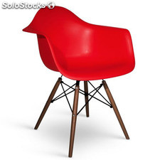 Chaise Eames Daw Style Noyer rouge