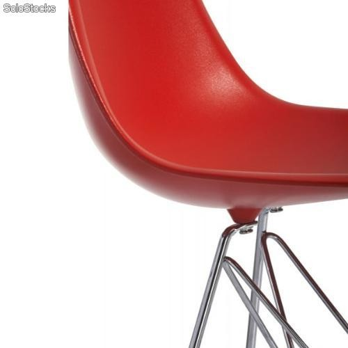 Chaise eames dsr rouge for Chaise eames rouge