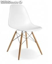Chaise Eames dsw Chrome Edition Blanc