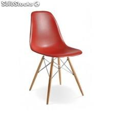 Chaise Eames dsw Chrome Edition Rouge
