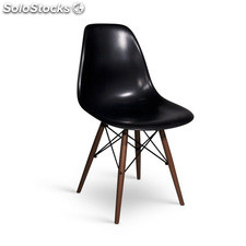 Chaise Eames DSW Style noyer noir