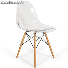 Chaise Eames DSW Style transparent