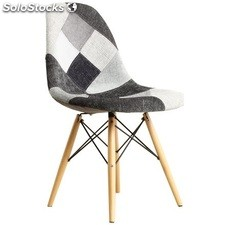 Chaise Eames Patchwork gris