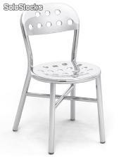 Chaise en aluminium peint, silla pie chair