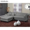 Chaise longue Brittish, PU gris (derecha)
