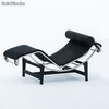 Chaise longue Lecor 1 plaza piel negra - Foto 2