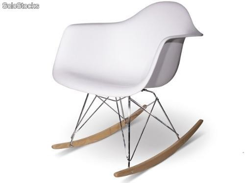 chaise rocking eames rar blanc. Black Bedroom Furniture Sets. Home Design Ideas
