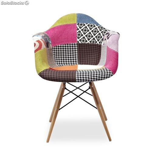 Chaises inspiracion daw style patchwork de charles ray for Chaise eams patchwork