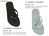 Chanclas Brasil color blanco
