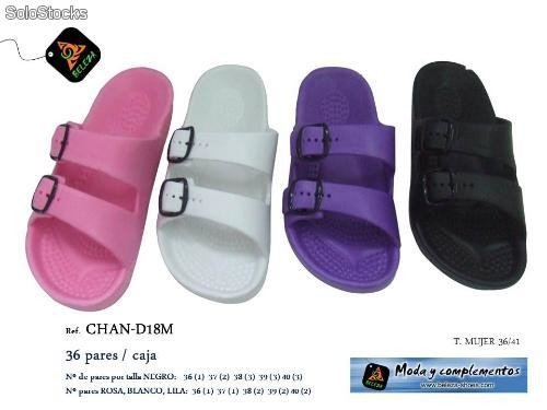 chanclas piscina mujer