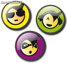 Chapas Roller Pins Emoticons Cool