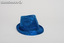 Chapeau pailletes led -4 coul