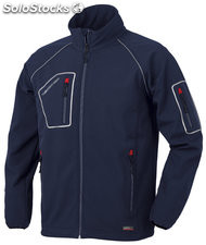Chaqueta softshell just azul m