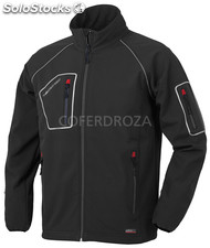 Chaqueta softshell negra just l