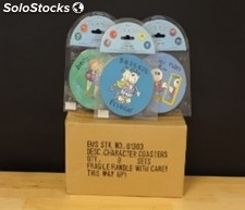Character coasters - brand new stock
