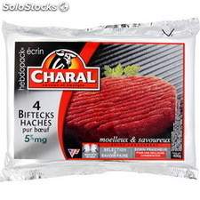 Charal steaks haches 5% 4X100G