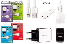 Chargeur usb kooltech charger combo 3en1 cpm-231