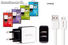 Chargeur usb kooltech charger combo cpm-228