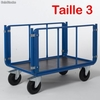 Chariot 2 ridelles tubulaires 1200 x 800 mm