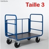 Chariot 3 cotes tubulaires 1200 x 800 mm