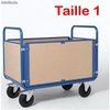 Chariot 4 dossiers 1000 x 700 mm bois