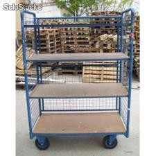 CHARIOT DE MANUTENTION GRILLAGE-OCCASION-CAPACITE 500KGS - REF : CHMAL